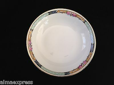 Gimbel Brothers KPM Bavaria Germany China 27044-4576 Roses & Gold DESSERT BOWL