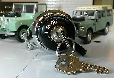 Land Rover Series 1 2 Lucas Sidelight Headlight Ignition Switch Knob Barrel Keys