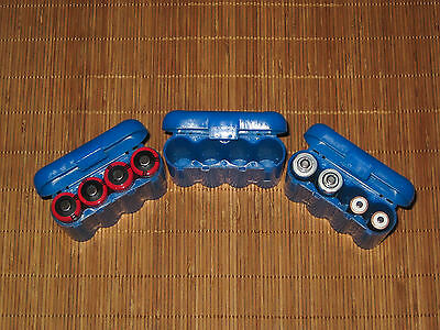 Universal Interlocking Battery Carrier Holder Case CR123A  AA AAA - 3 PACK BLUE