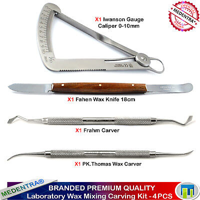 Deal of Dental Laboratory Wax Carvers Mixing Knife Crown Caliper Gauge Iwanson