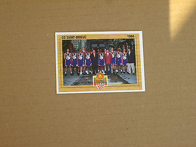 CO SAINT-BRIEUC  Carte OFFICIAL BASKET-BALL CARDS panini 1994