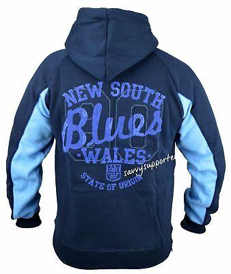 NSW State of Origin Heritage Classic Zip Hoodie Jacket 'Select Size' S-5XL BNWT5