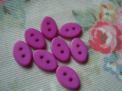 8 Oval CERISE PINK  Plastic Buttons