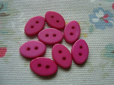 8 Oval DARK PINK  Plastic Buttons