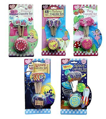 Children Kids Birthday Party Themed Cupcake Decorating Set Kit