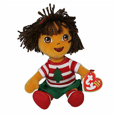 Ty Beanie Baby Holiday Dora - MWMT ( Dora Explorer Collection 2007)