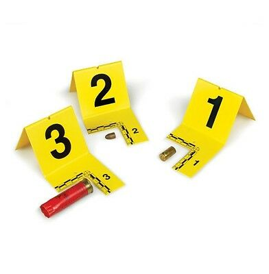 New! Armor Forensics Yellow Cutout Type ID Tents with Numbers 1-20 IDTC-0120Y