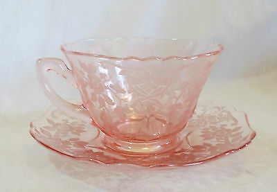 Cambridge Pink Apple Blossom #3400 Cup & Saucer Set(s)