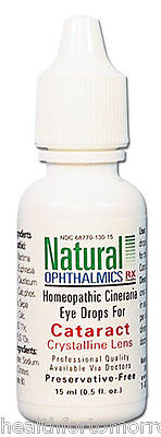 Natural Ophthalmics Cataract Crystalline Lens with Cineraria Eye Drops 0.5 oz