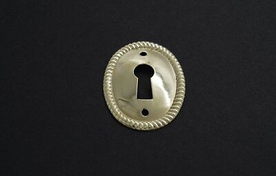 1 1/8 Keyhole Cover Plate Escutcheon Furniture Brass Key Hole Lock Plate