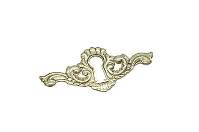 Keyhole Cover Plates Escutcheons For Antique Victorian Furniture Stamped Brass • CAD $1.89