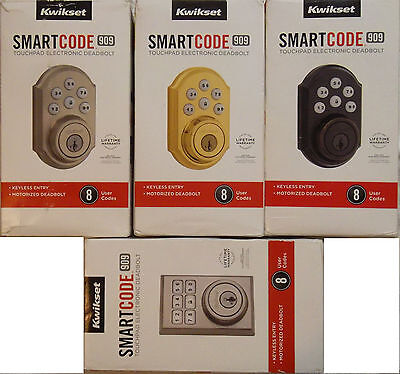 KWIKSET Smartcode Deadbolt Keyless Entry 909 Nickel Brass Bronze Contemporary
