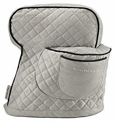 KitchenAid KSMCTISF Fitted Stand Mixer Cover, Silver Frost