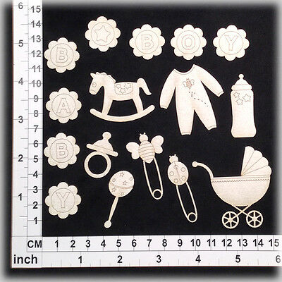 Chipboard Embellishments for Scrapbooking, Cardmaking - Baby Boy 15135w