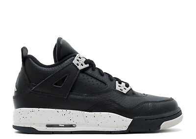 New AIR Jordan Retro 4 GS - 408452 003 Oreo 4 Black/Tech Grey Basketball