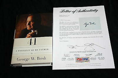George Bush signed Book 41 A Portrait of My Father First Edition PSA/DNA Y02211