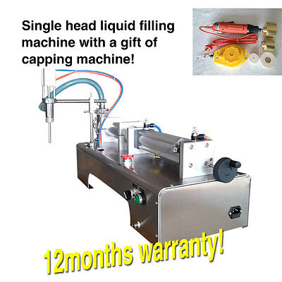 with foot pedal,piston filler,small bottle liquid filling machine,90ml-1000ml,