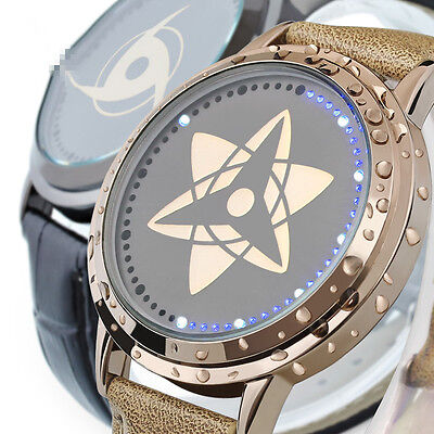 Naruto Watch Sasuke Kakashi sharingan Led Touch screen Waterproof Watch