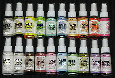 Kaisercraft 'KAISERMISTS' Shimmer Spray Ink Mist (Choose from 20) Kaiser DELETED
