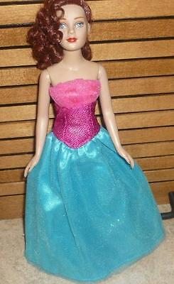 Tri-Tone Strapless,Sparkly Gown for Tiny Kitty Doll