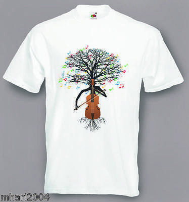 Cello T-shirt Musical Cellist Tree Violoncello in sizes Small to XXL