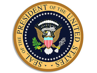 4x4 inch ROUND Presidential Seal AIR FORCE ONE COLORS Sticker - president trump