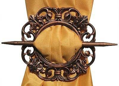 2 Piece Antique Decorative Curtain Tiebacks Window Panel Holdbacks 4 Colors