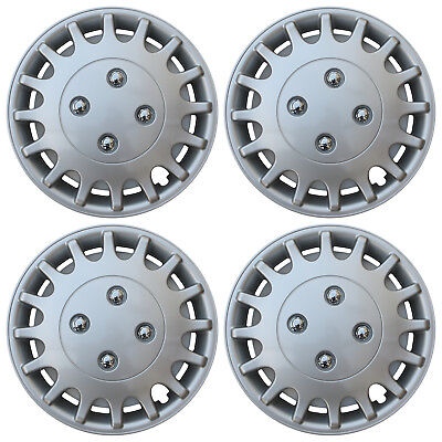 """4 Piece Set SILVER /LACQUER Hub Caps FITS 13"""" Inch Steel Wheel Covers Cap Cover"""
