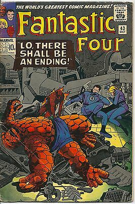 Fantastic Four 43 Marvel Silver Age 1965 The Inhumans and The Sandman