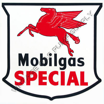 "Mobilgas Special Shield 12"" Vinyl Decal (DC130)"
