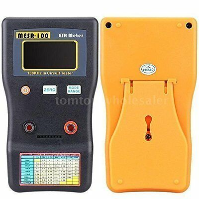MESR100 Auto Ranging in Circuit ESR Capacitance Meter Low Ohm Tester Capacitor