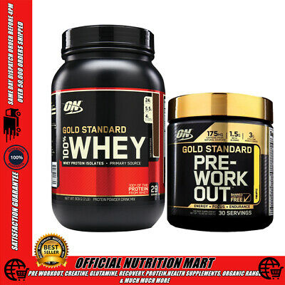 ON GOLD STANDARD STACK - 100% WHEY PROTEIN 2lb + PRE WORKOUT POWDER
