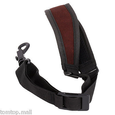 Adjustable Saxophone Sax Neck Strap Cotton Padded with Hook Clasp Belt Musical