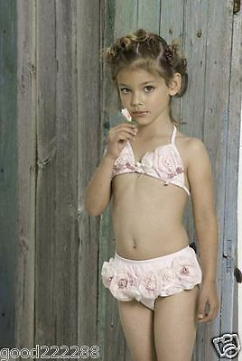 NWT Kate Mack Cute Girls Two Piece Floral Skirted Bikini Swimsuits 2T-10T #GK