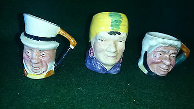 2 x Lancaster~Sandland,1 x Sterling Character Toby Jugs Minatures~Hand Painted