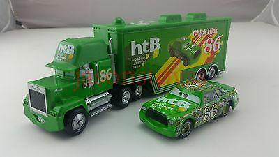 Disney Pixar Car No.86 Mack Racer's Truck & Chick Hicks Toy Car 1:55 Loose New