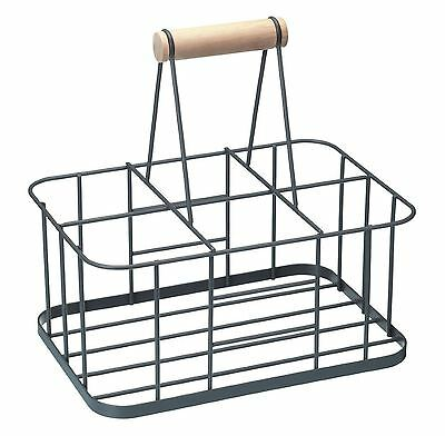 Kitchen Craft Living Nostalgia The Hen House Wire 6 Bottle Holder with Handle