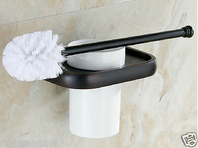 Wall Mounted Toilet Brush & Holders Oil Rubbed Bronze