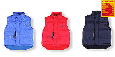 NEW bABY Kids Toddler boys and girls puffer vest three colours 1Y-5Y