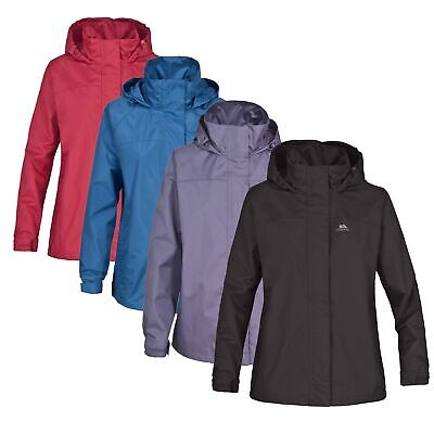 Trespass Nasu Girls Waterproof Jacket Hiking Rain Coat with Taped Seams