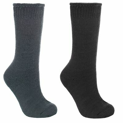 Trespass  Togged Mens Grey Black Thermal Thick Casual Ski Socks for Snowboarding