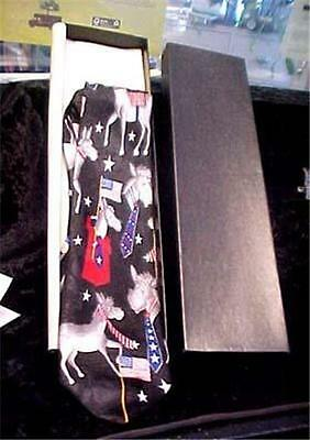 DEMOCRATIC PARTY VINTAGE TIE-ORIG. BOX by DINO ROMARO-POLYESTER-NOT WORN = 8742