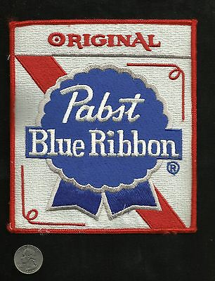 VTG LARGE Original Pabst Blue Ribbon Beer Collectors Back Patch - New Old Stock