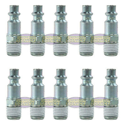Set Of 10 Prevost High Quality Safety 1/4 Air Coupler Plug Male Industrial Style