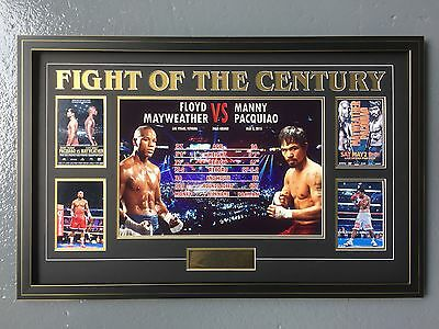 Floyd Mayweather & Manny Pacquiao Fight Of The Century Official Poster Frame