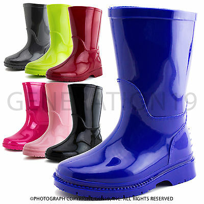 New Toddler Boys Girs Kids Outdoor Rain Snow Boots 55A1 (Toddler 5 6 7 8 9 10)