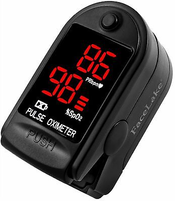 Pulse Oximeter Fingertip CMS50DL / FL400 Blood Oxygen SpO2 Monitor FDA - Black