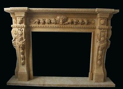 Beautiful Hand Carved Marble Fireplace Mantel Mbr116