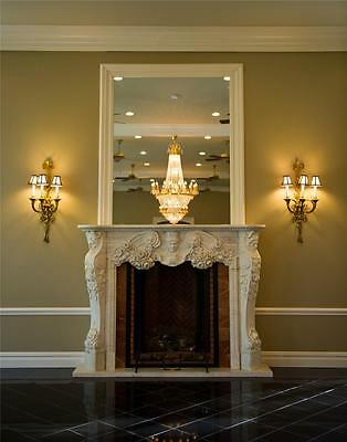 Best Hand Carved Marble European Design  Fireplace Mantel - Fpm3