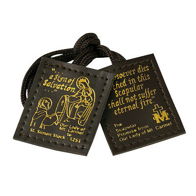 Leather Scapular Brown Color